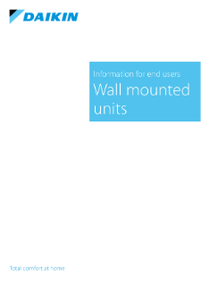 Wall mounted units